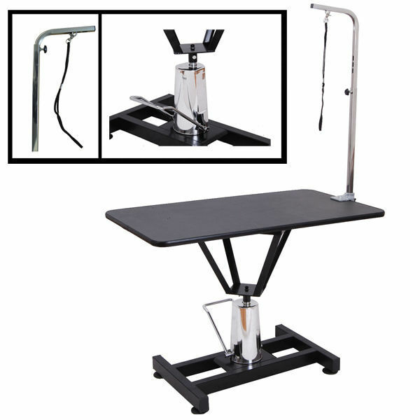 "Master Equipment Grooming Table With Arm Hydraulic Grooming Table | 36"" x 24"" inch Heavy Duty Adjustable Dogs ..."