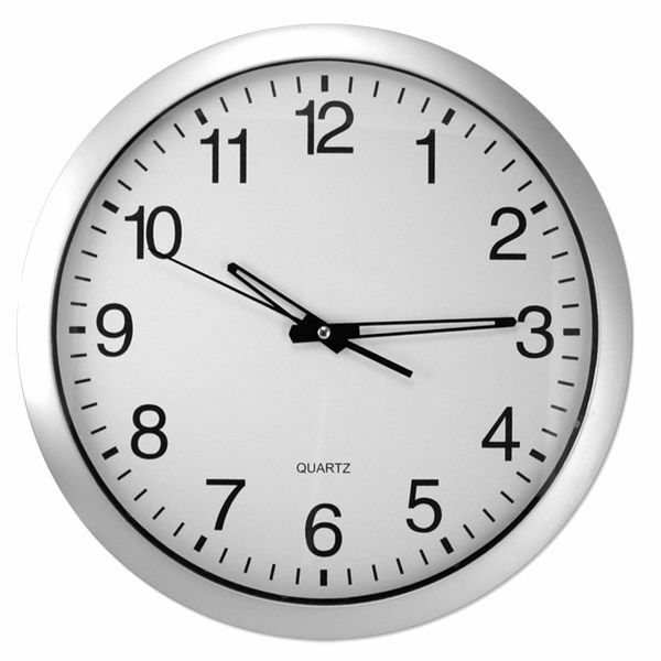Analog Wall Clock 14 Quot Inch White Round Home Decoration