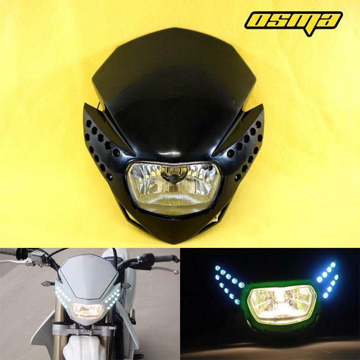 new led racing motorcycle headlight fairing streetfighter. Black Bedroom Furniture Sets. Home Design Ideas