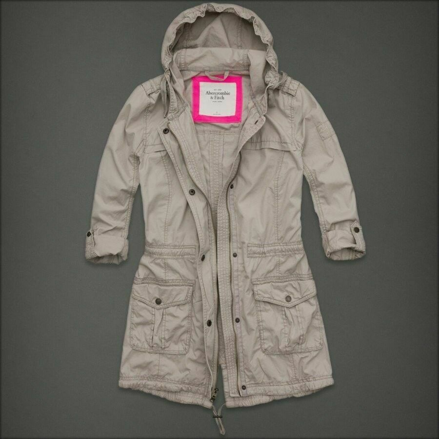 NWT Womens Abercrombie&Fitch AF Parka Coat Jacket Puffer