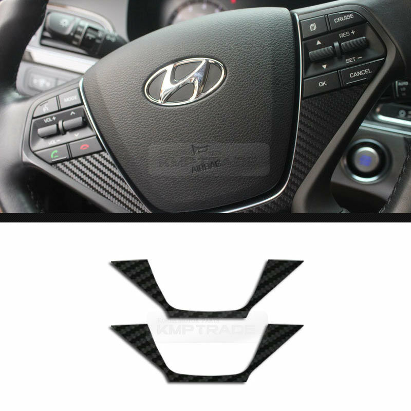 Carbon Steering Wheel Protector Decal Sticker For HYUNDAI