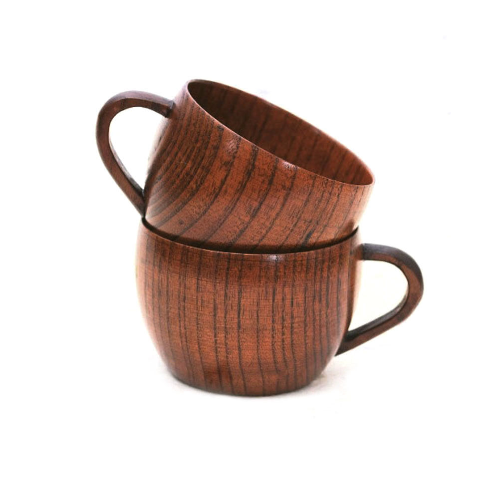 260ml nature wood wooden tea cup coffee mug handmade mugs Unique coffee cups mugs