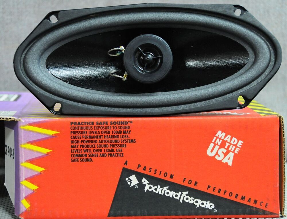 nos american made old school rockford fosgate punch pch 4104t2 4x10 made in usa ebay. Black Bedroom Furniture Sets. Home Design Ideas