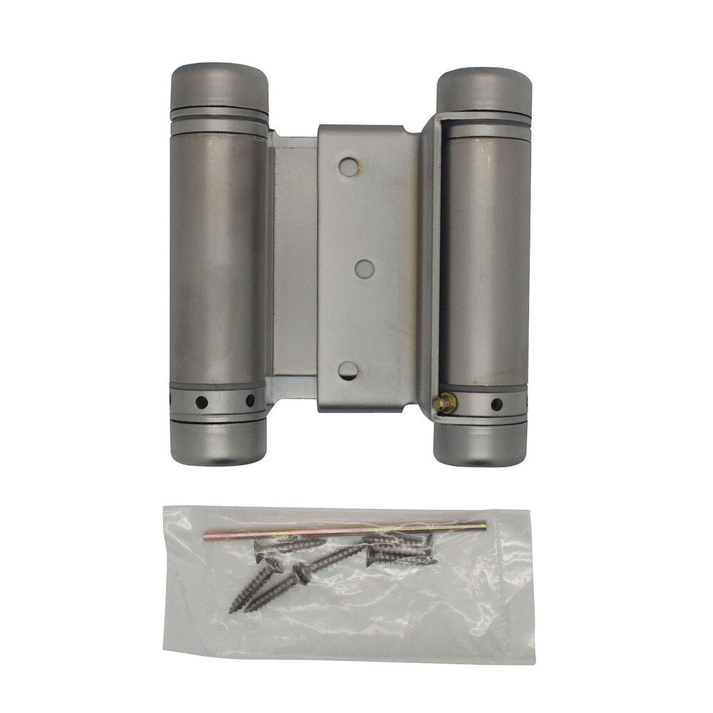 Saloon Door Hinges : Quot satin chrome double acting spring hinge cafe saloon