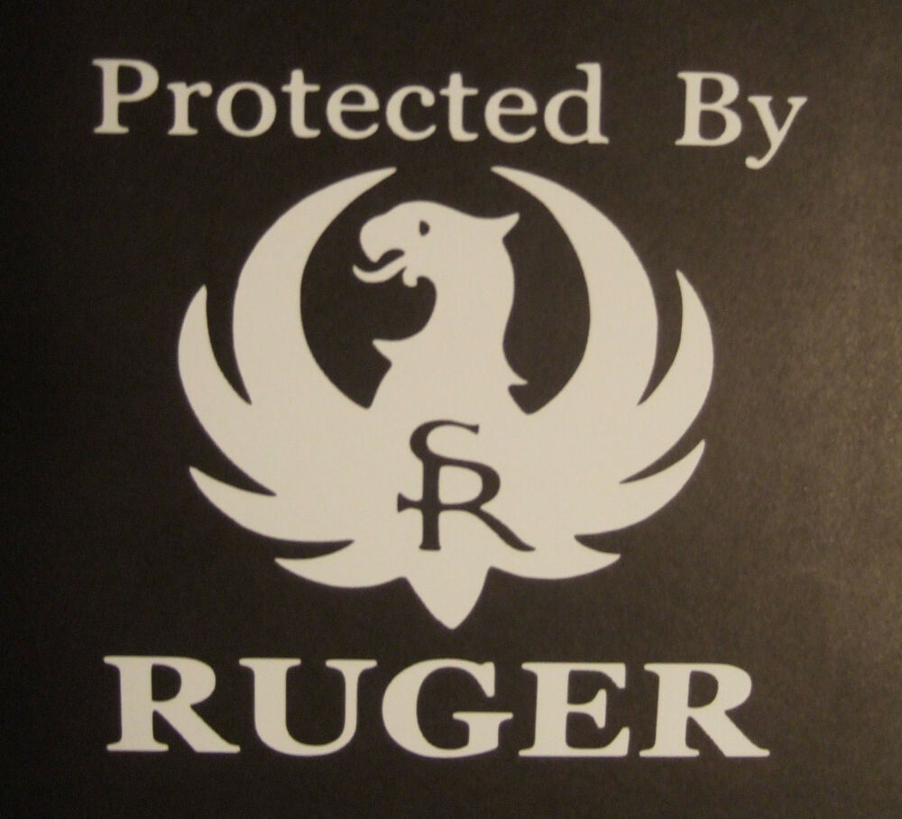 Protected By Ruger Vinyl Decal Car Window Laptop Gun Rifle