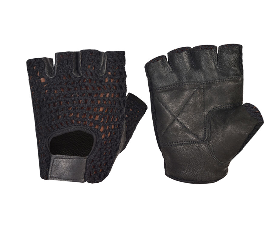 Weight Lifting Gloves Leather Fitness Gym Training Workout: MESH NET PADDED LEATHER WEIGHT TRAINING GLOVES FITNESS