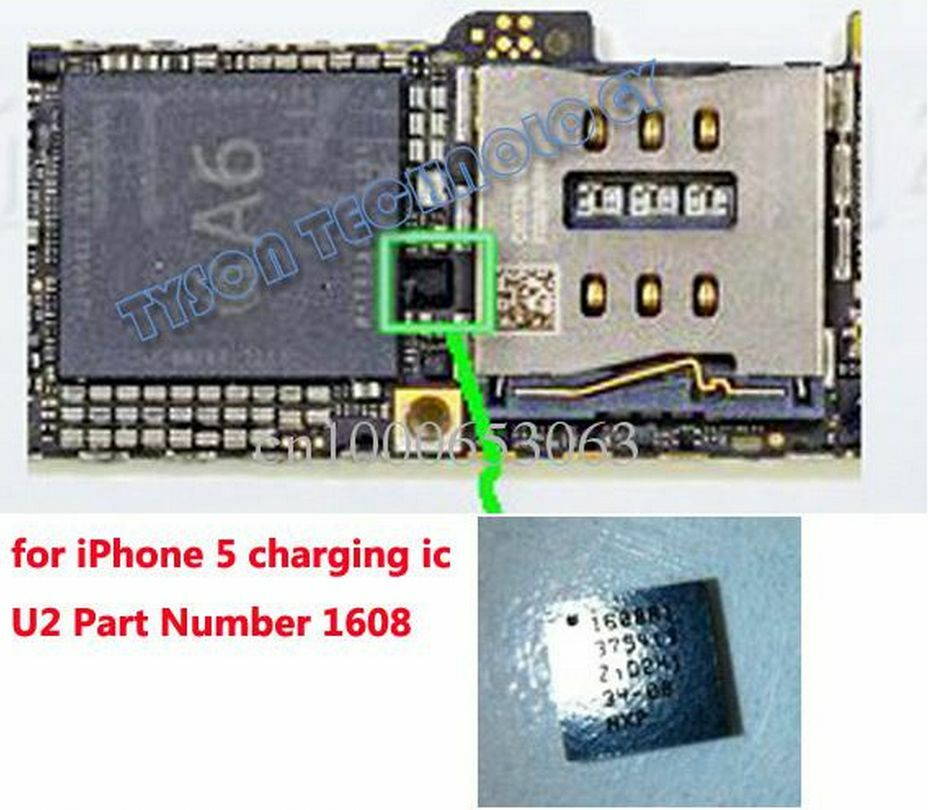 iphone 5 not charging 2x oem iphone 5 usb charger charging chip u2 ic 1608 for 1363