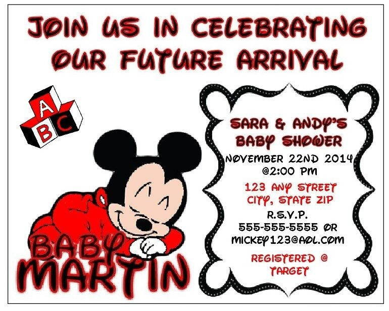 Customized Minnie Mouse Invitations for luxury invitations template