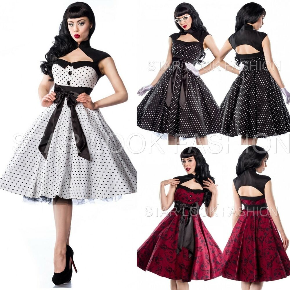 rockabilly kleid 50er jahre vintage kleid retro abendkleid. Black Bedroom Furniture Sets. Home Design Ideas