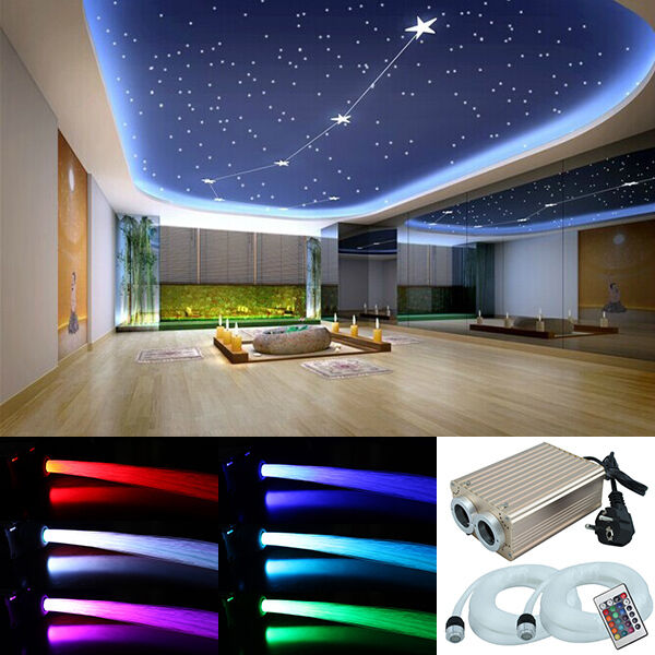 led sternenhimmel glasfaser lichtfaser 780 lichtpunkte leuchten 32w dimmbar rgb ebay. Black Bedroom Furniture Sets. Home Design Ideas