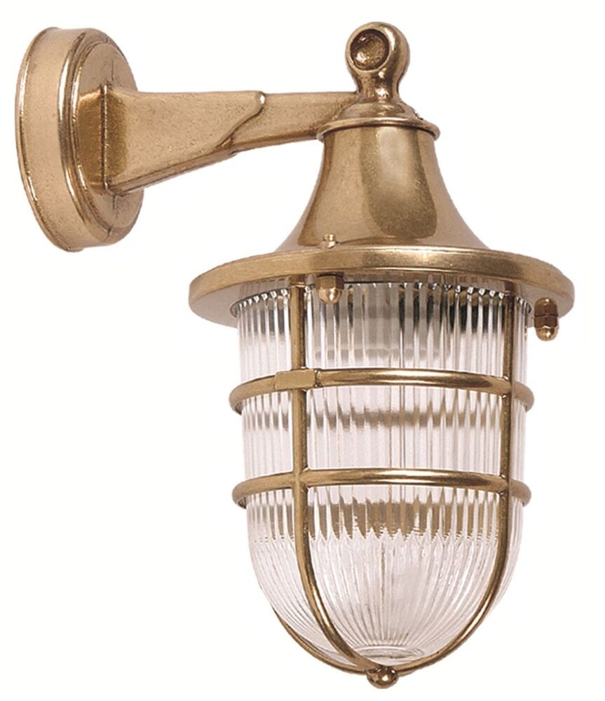 Wall Sconces Nautical : Brass wall sconce High quality lighting. Marine & Nautical Lights. eBay