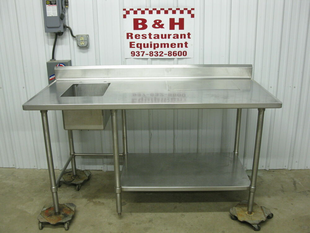 66 Quot Stainless Steel Heavy Duty Work Prep Table W 1 Bowl