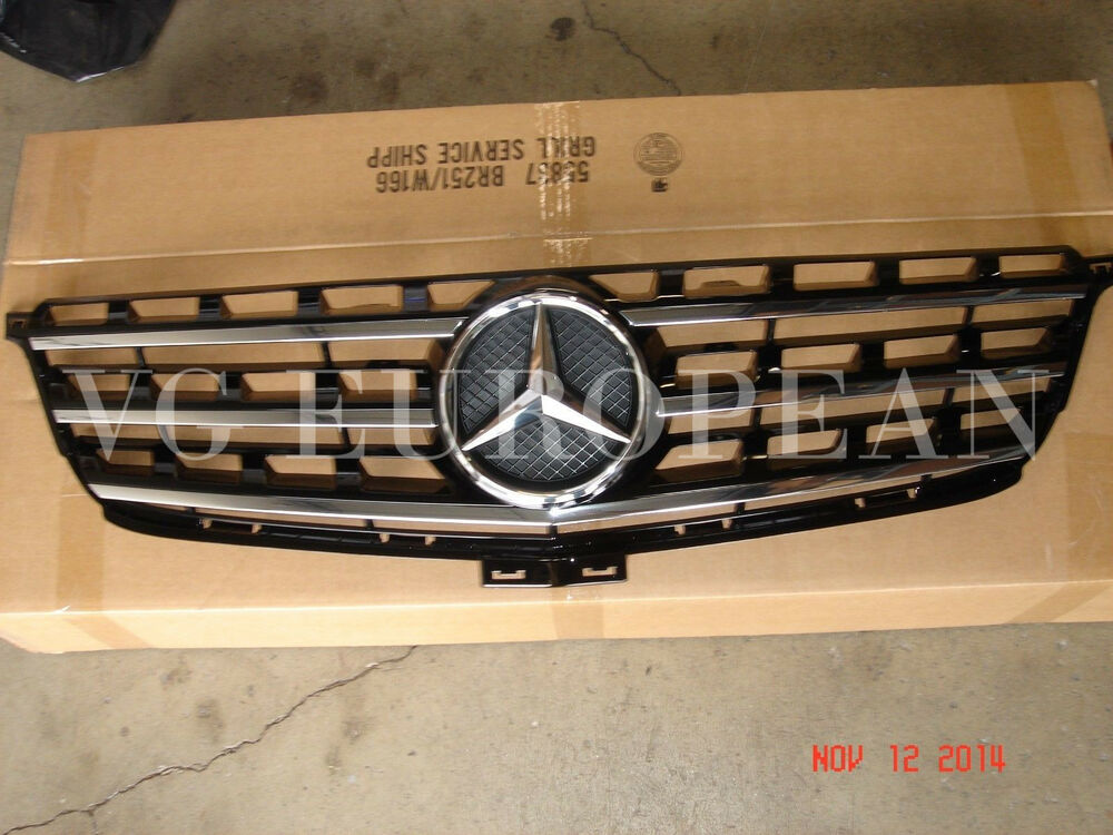 Mercedes benz ml class genuine front radiator grille ml350 for Mercedes benz grills