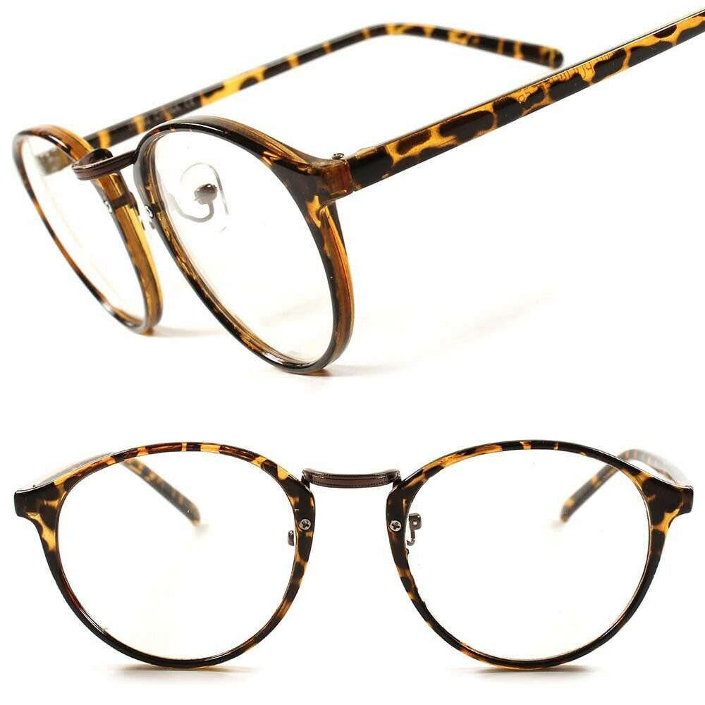Mens Thin Frame Glasses : Round Vintage Retro Cool Mens Womens Tortoise Thin Frame ...