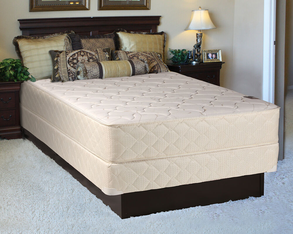 comfort rest king size mattress and box spring set ebay. Black Bedroom Furniture Sets. Home Design Ideas