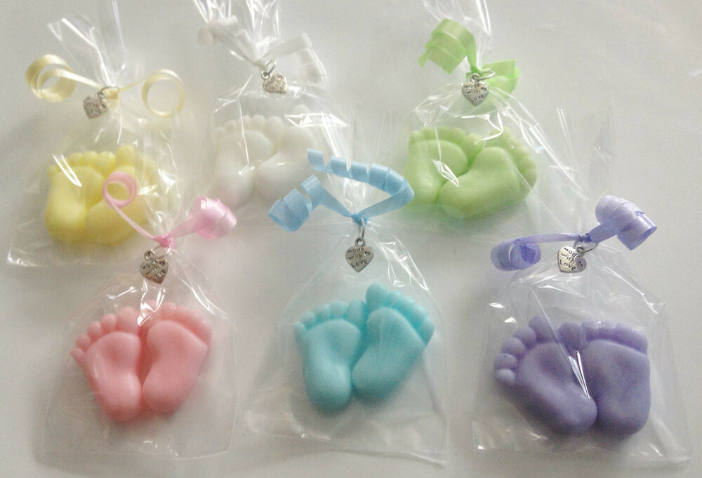 5 X Baby Shower Tiny Feet Soap Favours Baby Powder