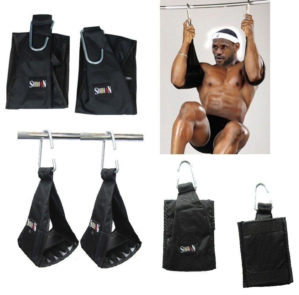 Hanging Leg Raise With Straps AB Slings Strap...