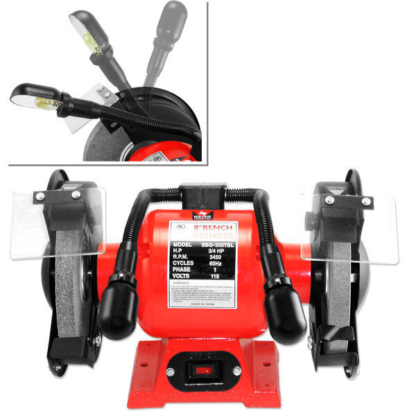 8 Quot Bench Grinder 3 4 Hp Heavy Duty Cast Iron Bench Top 2