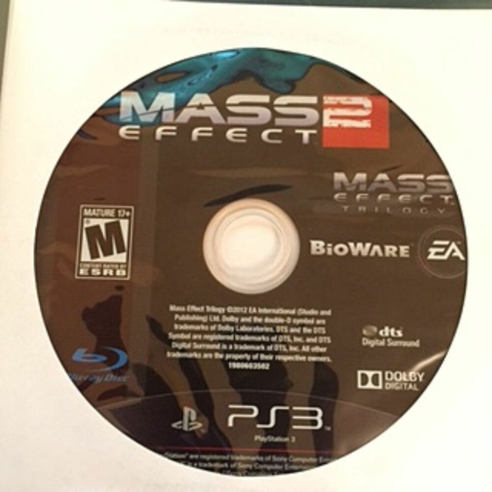 Games For Ps3 Only : Mass effect trilogy disc only game sony playstation