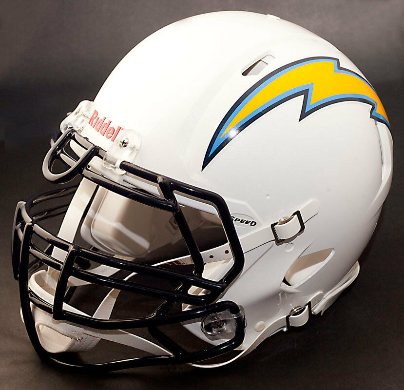 San Diego Chargers Football Record: SAN DIEGO CHARGERS NFL Authentic GAMEDAY Football Helmet W