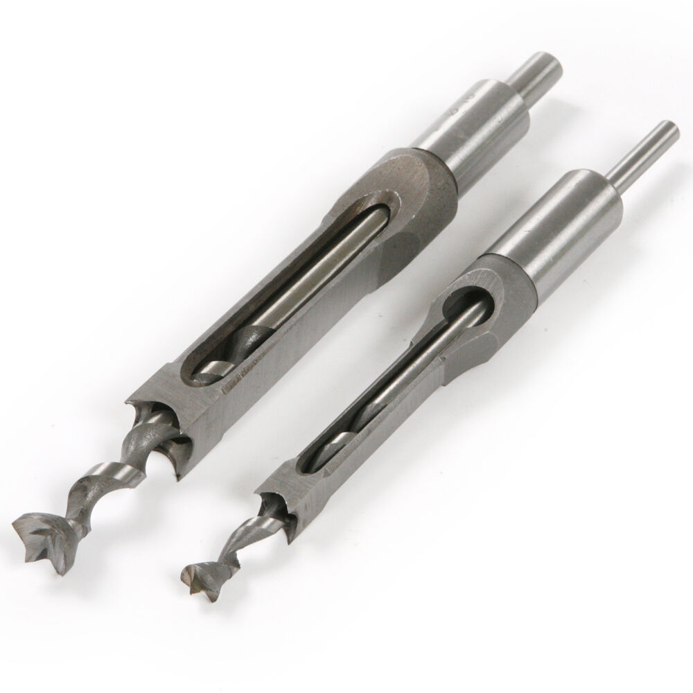 2pc 10mm 16mm Square Hole Saw Mortising Chisel W Twist