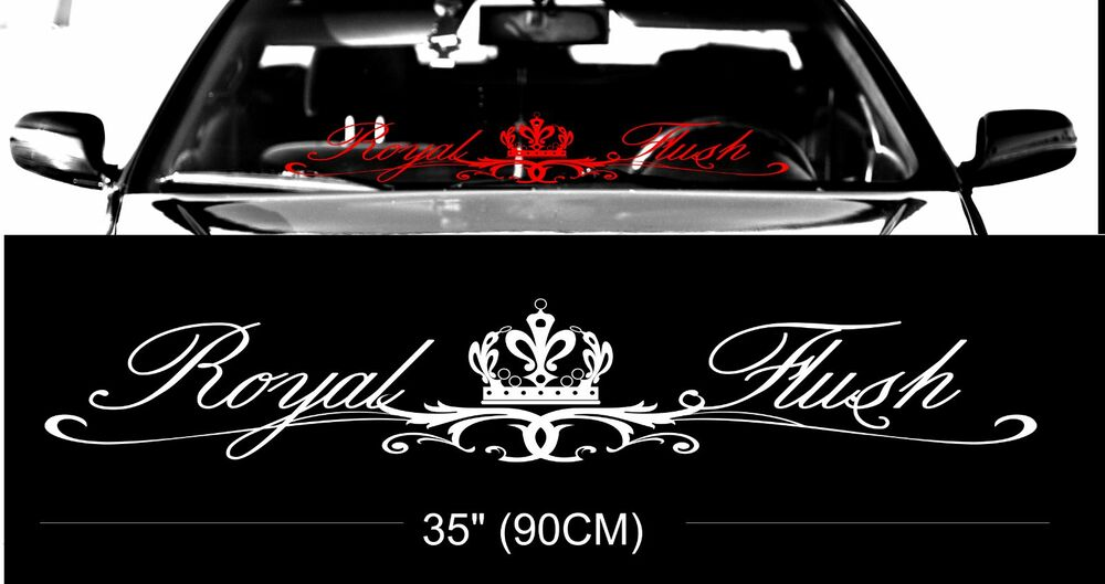 Royal flush windshield windscreen front glass car jdm for Getting stickers off glass
