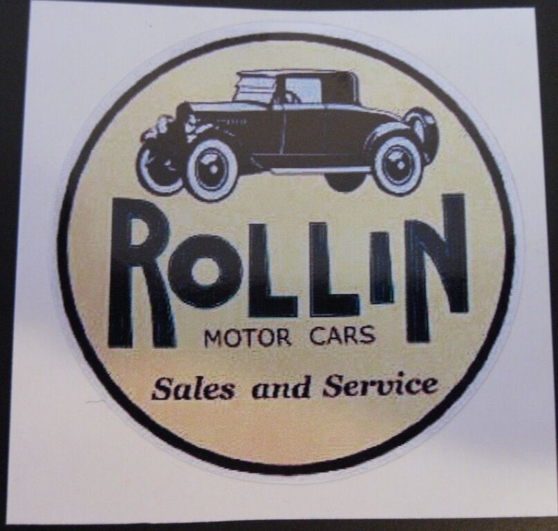 Rollin Motor Cars Sales And Service Vintage Sticker