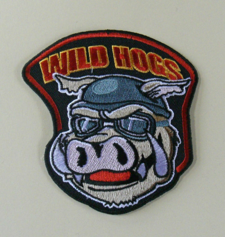 Wild hoggs large back tv biker motorcycle patch ebay