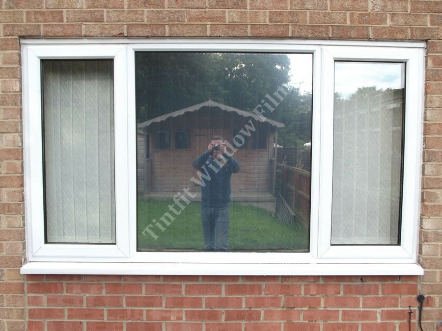 external mirror silver 20 151cm x 1m one way window tinting film ebay. Black Bedroom Furniture Sets. Home Design Ideas