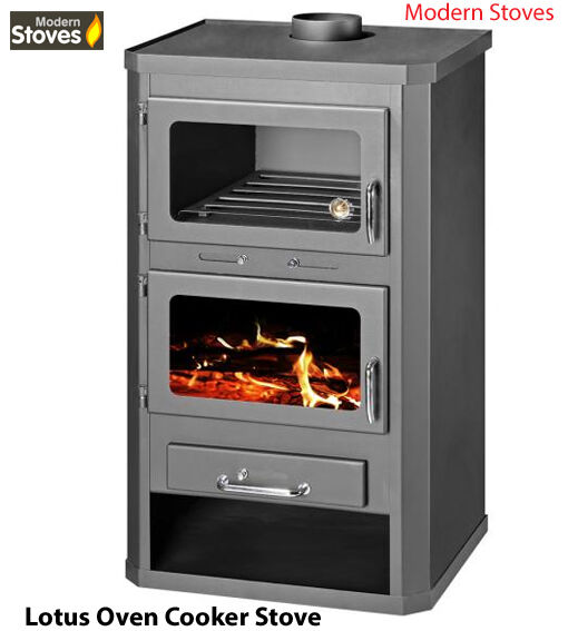 Wood Stove Oven : Wood Burning Multifuel Stove & Oven Cooker Combination Lotus Max 21kw ...