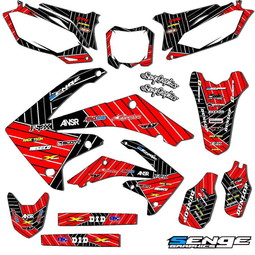 2006 2007 crf 250r graphics kit crf250r 250 r deco sticker for Stickers deco