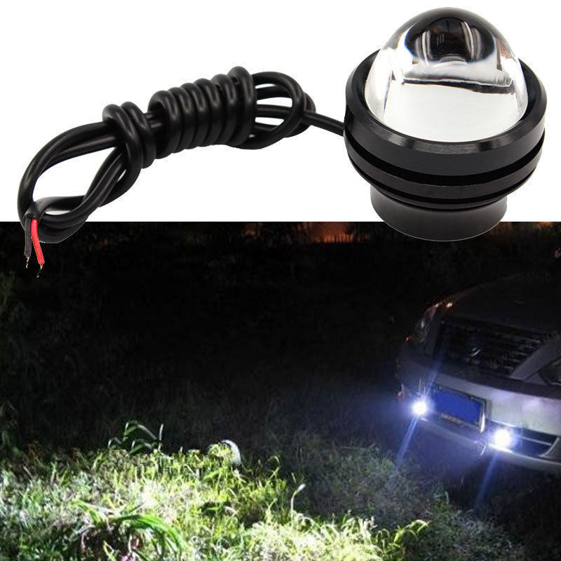 12v suv motorcycle spotlight led car van spotlight hawkeye light front bulbs eye ebay. Black Bedroom Furniture Sets. Home Design Ideas