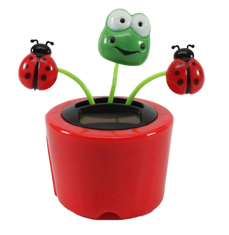 Dancing Frog Ladybugs Solar Toy Us Seller Office Home