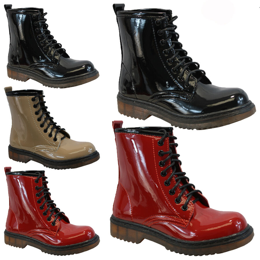 Awesome WOMENS LACE UP LADIES VELVET VINTAGE RETRO COMBAT GOTH PUNK ANKLE BOOTS SHOES | EBay