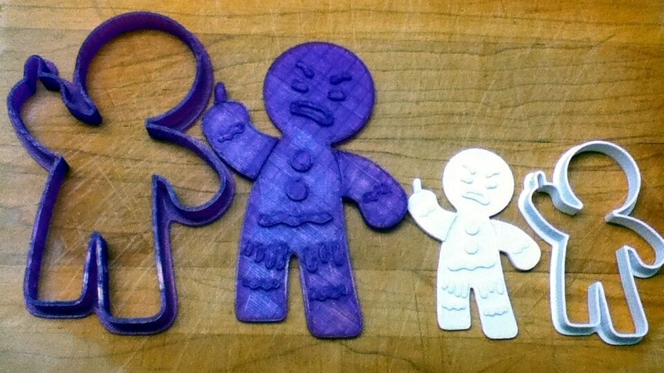 Gingy the gingerbread man from shrek cookie cutter choice of sizes ebay - Biscuit shrek ...