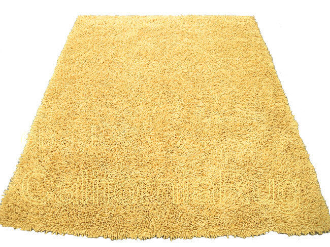 3x5 Area Rug Shaggy Fluffy Shag Light Yellow 1 Quot Inch Thick
