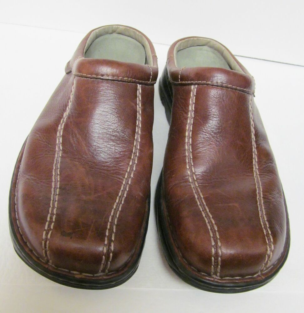 Merrell Air Cushion World Outlook Mens Leather Slip On Clogs Shoes-Dk Brown Sz 8 | EBay