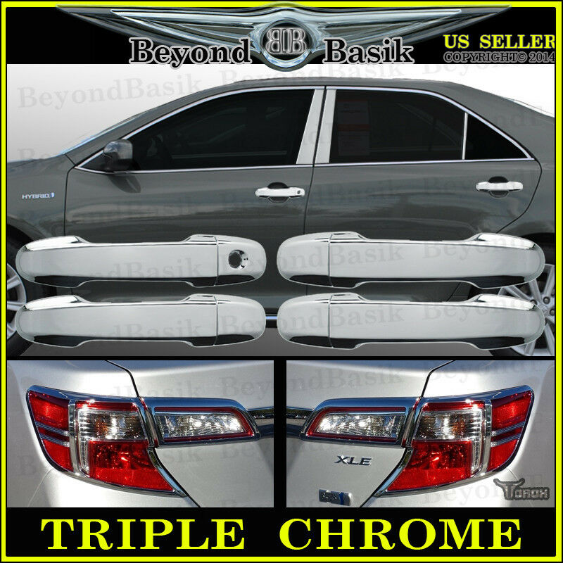 2012 2014 toyota camry chrome door handle covers chrome tail light bezel covers ebay. Black Bedroom Furniture Sets. Home Design Ideas