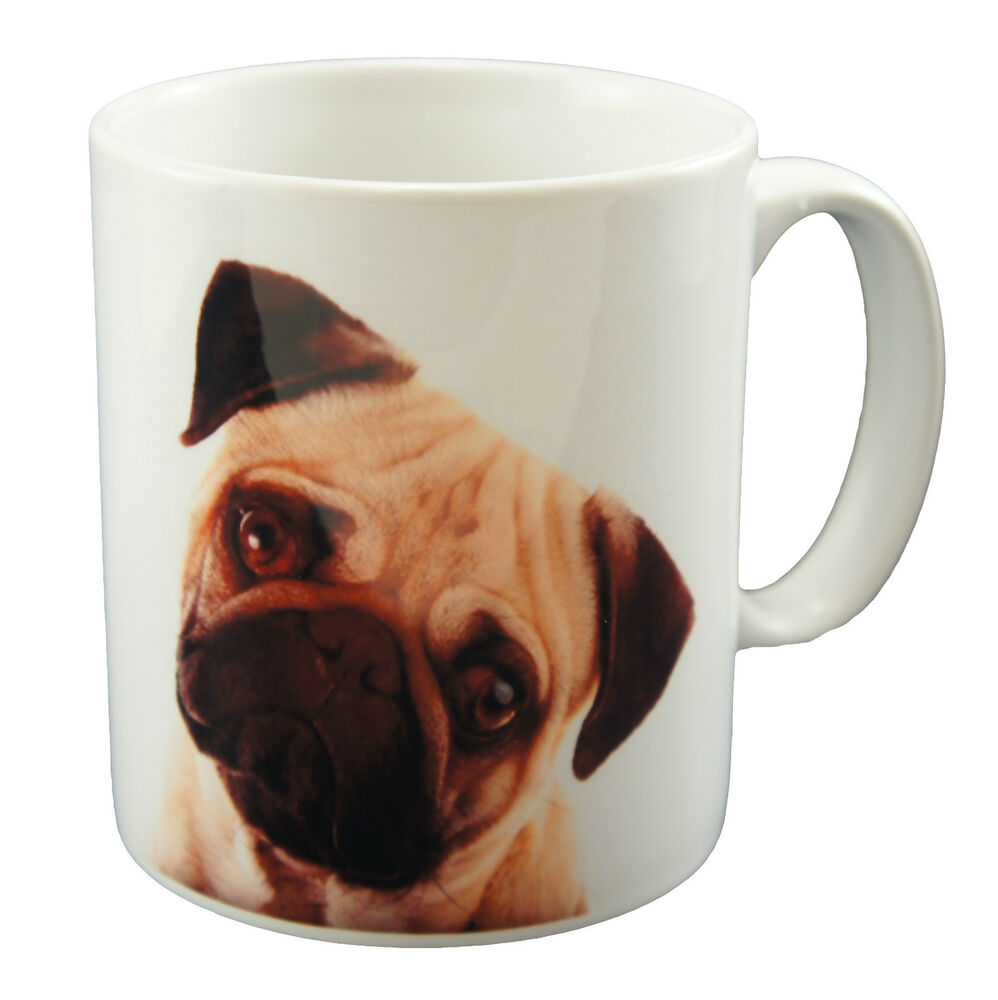 New sweet pug face dog print mug printed cup puppy dogs for Animal face mugs