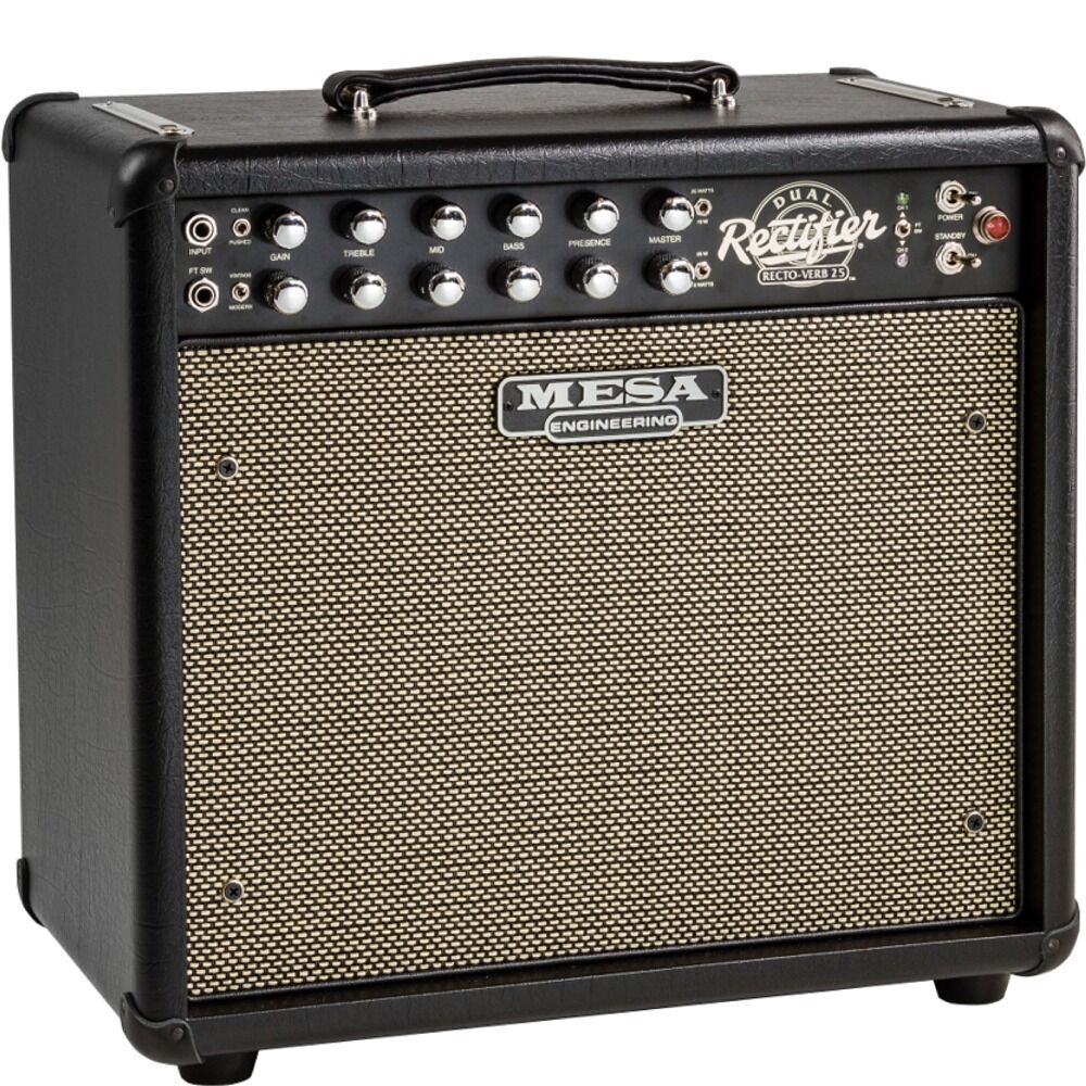 mesa boogie amplifiers mini dual rectifier recto verb 25 guitar amp combo black ebay. Black Bedroom Furniture Sets. Home Design Ideas