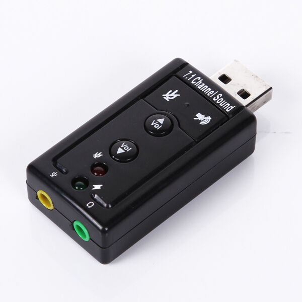 12Mbps USB 2.0 Virtual 7.1 Channel CH 3D Audio Sound Card