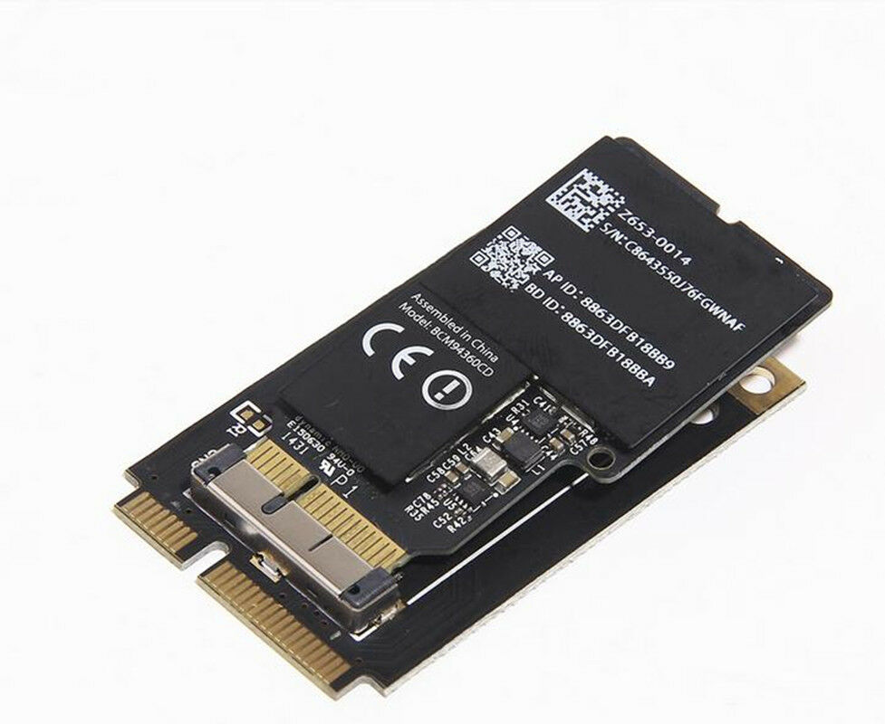apple broadcom bcm94360cd mini pci e wifi wlan bluetooth 4 0 card ebay. Black Bedroom Furniture Sets. Home Design Ideas