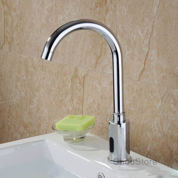 Brass Hands Touch Free Automatic Sensor Control Bathroom Sink Tap Basin Faucet Ebay
