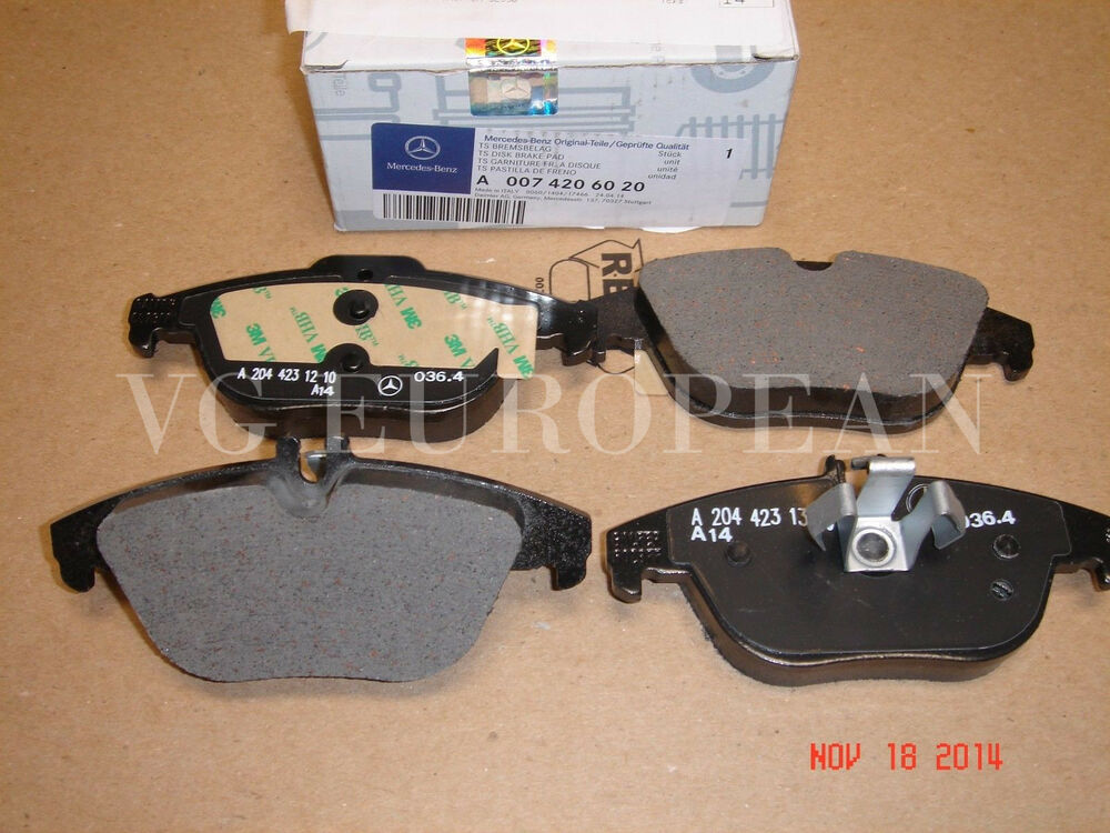 Mercedes benz e class coupe conv genuine rear brake pad for Mercedes benz e350 brake pads replacement