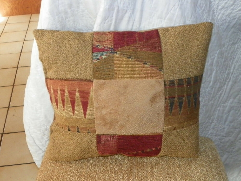 Gold Burgundy Beige Abstract Print Throw Pillow (PL62) eBay