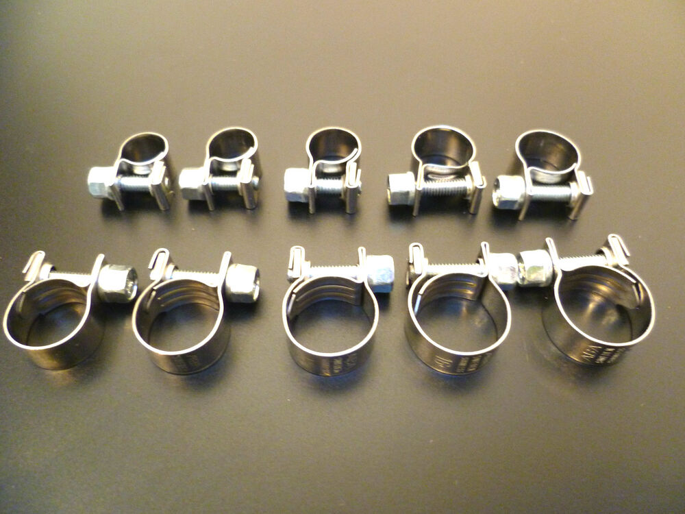 Hose pipe clamps uk stainless steel mini clip type