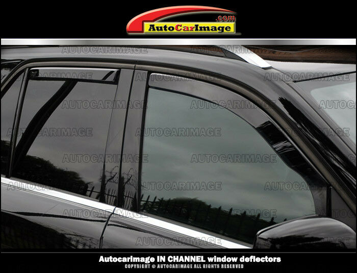 Weather Tech In Channel Rain Guards For Toyota Highlander