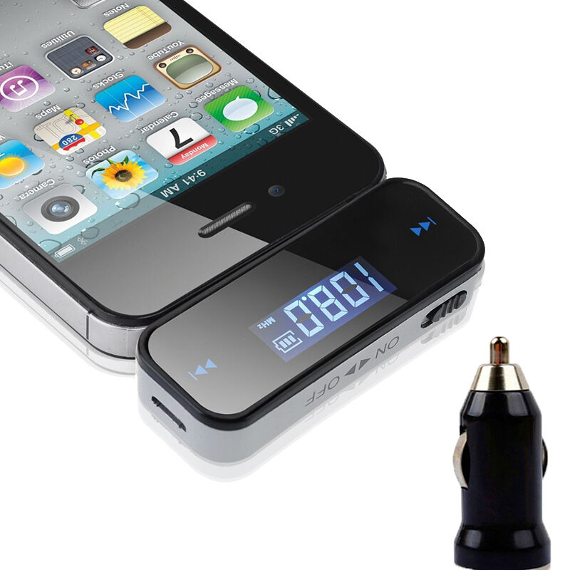 new wireless 3 5mm car audio radio fm transmitter for android phone ebay
