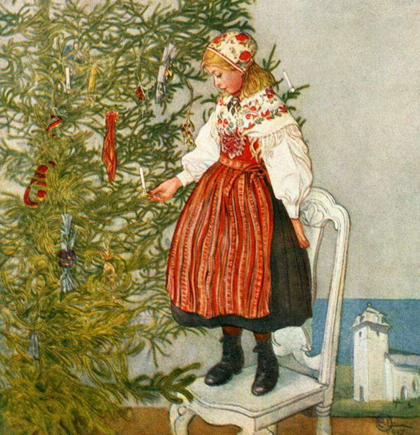 Christmas Tree Sweden: Christmas Tree Confetti By Carl Larsson Paper Print Repro