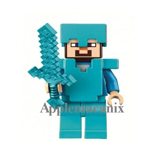 New Lego Minecraft The Ender Dragon 21117 Steve Minifigure